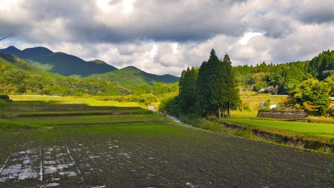 Tano Kansa - landscape of mountains in the distance with a dirt field and plains straight ahead.