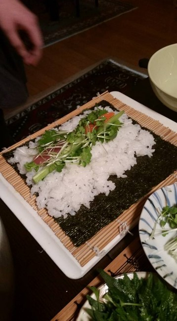 The savory sushi roll, a recipe of historic preservation