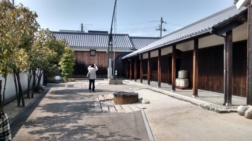 grounds of sake brewery museum in Nishinomiya-go