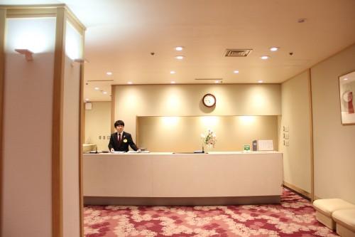 hot spring / onsen hotel front desk, Iwate