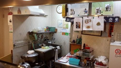Juju Okonomiyaki restaurant kitchen.