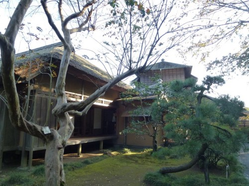 Kobuntei house on the Kairakuen Garden grounds, where plum blossoms can be seen, Ibaraki prefecture