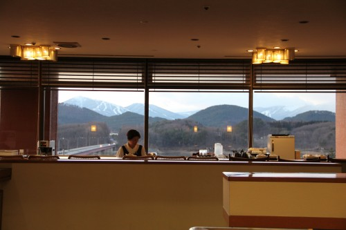 restaurant in a hot spring / onsen hotel, Iwate