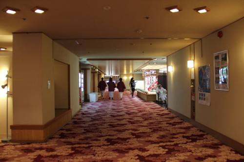 lobby of hot spring / onsen hotel, Iwate