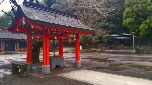 Cleansing area of Toyotama shrine in Kagoshima.