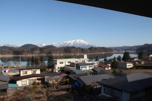 view from hot spring / onsen hotel, Iwate