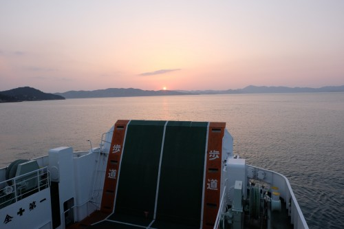 Seto Inland Sea, ferry between art islands comprising the Triennale art festival, Seto inland sea