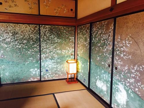 Kairakuen Garden Plum Flower room dabbed with countless plum blossoms like those nearby Senba Lake, Ibaraki prefecture