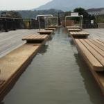 Dip your weary feet in a free foot spa in Sakurajima!