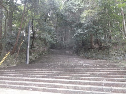 lush trees and stairs to Hiei, home to Enryaku-ji Temple