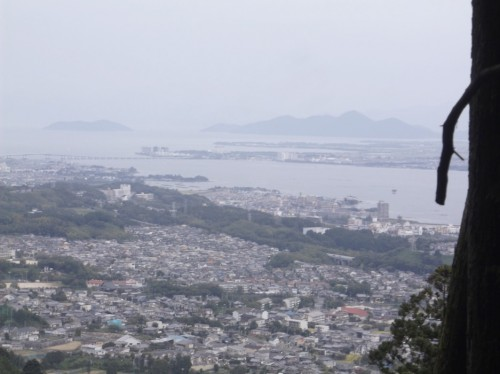 view of the city landscape in Hiei, home to Enryaku-ji Temple