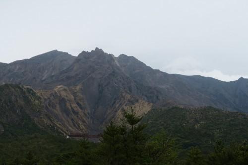 view of volcano from Sakurajima Yunohira observatory