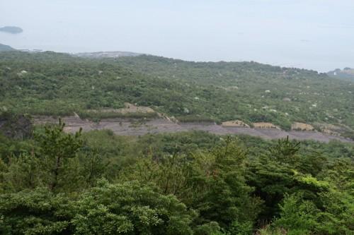 view from Sakurajima Yunohira observatory