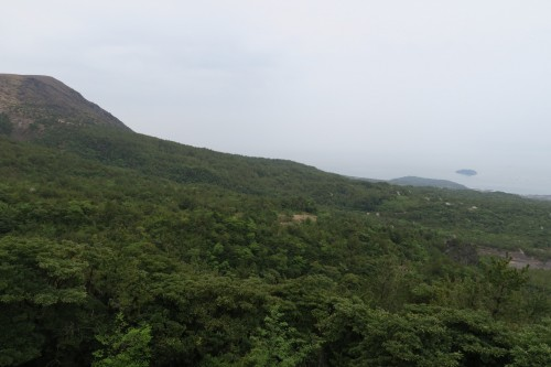 view of surrounding nature from Sakurajima Yunohira observatory