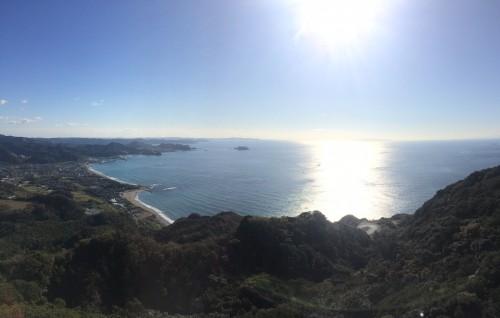 view of sea from Nokogiriyama mountain