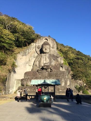Huge Buddha statue on Nokogiriyama mountain