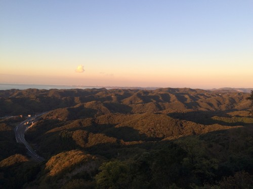 view of horizon from Nokogiriyama mountain