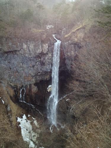 Kegon Falls streaming waterfall among Nikko nature trails