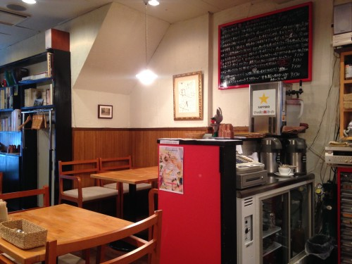 Inside Usagi Botanica, a vegetarian/vegan restaurant in Morioka that serves macrobiotic food