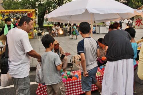 People at the Rokugatsudo festival in Kagoshima.