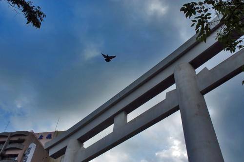 Gate near the Rokugatsudo festival in Kagoshima.