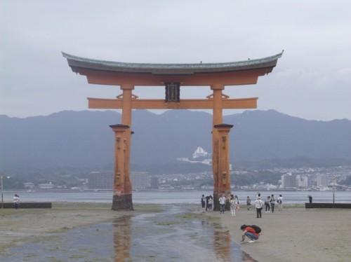 Torii Gate in Miyajima Island