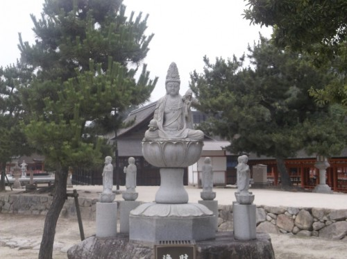 Miyajima Island statue at the shrine