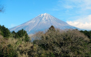 A nice view of the mountain of Fuji in Fujinomiya.