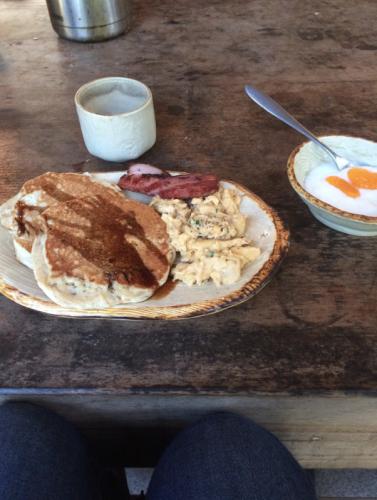 Space hostel breakfast