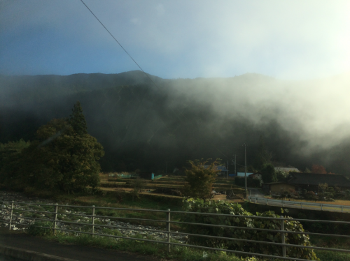 An early morning drive from the hostel to Nikko station