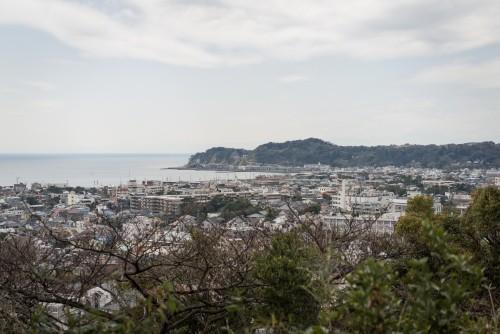 View from Gionyama hiking course in Kamakura.