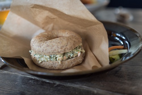 Vegetable bagel in Beach Muffin in Zushi.