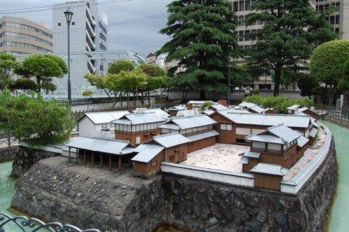 scale mode of Dejima island, Nagasaki