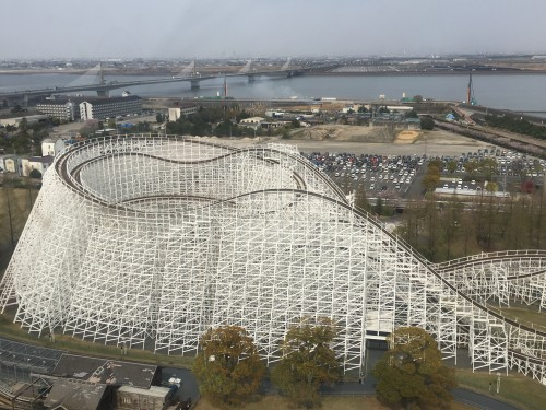 White Cyclone, roller coaster, Nagashima Spa Land, Kuwano, Mie, amusement part