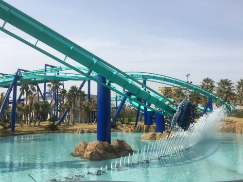 Enjoyable Nagashima Resort amusement park water ride, a thrilling choice over the garden