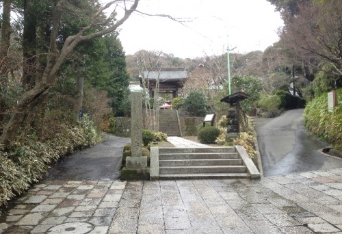 Entry for Kaizō-ji Temple on Kamakura outskirts, Kamakura history