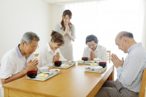 Itadakimasu and Gochisousamadeshita are expressed Japanese manners elicting etiquette from a Buddhist past