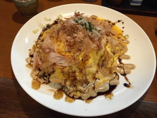 okonomiyaki salad was the food I've never tasted before