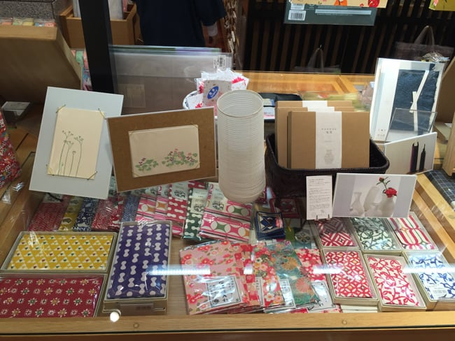 souvenirs related with washi paper