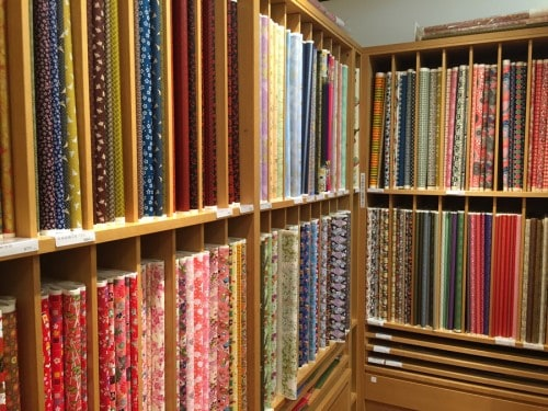 Beautiful varieties of Japanese paper.