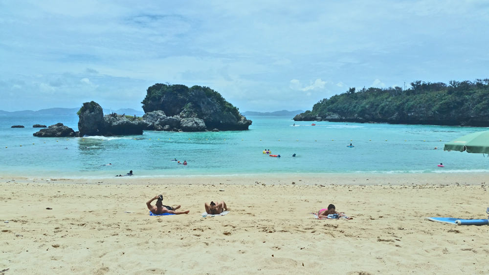 Relaxing in the sands of Ikei Beach