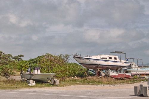 A boat in Okinawa