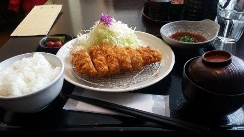 Niseko, Tonkatsu lunch set at Niseko Annupuri Onsen Yugokorotei