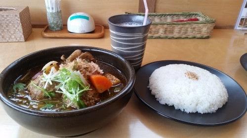 Soup Curry at Tsubara Tsubara in Hokkaido