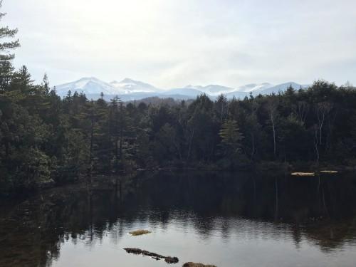 Ushidome pond in Norikusa is close to ski resort area