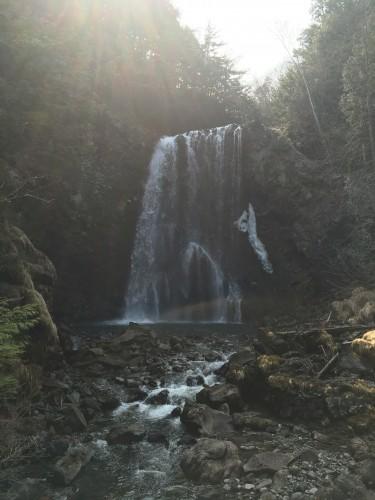 Norikura, Zengoro waterfalls and rainbow!