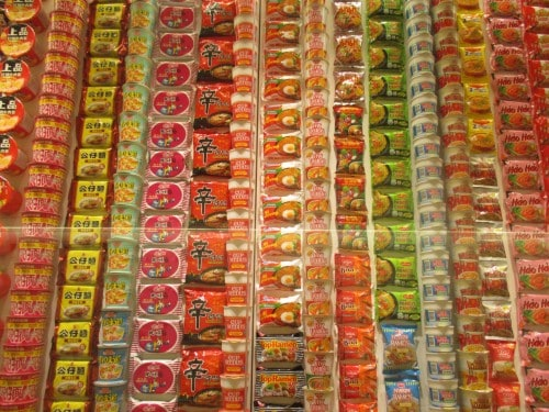Instant Noodles from Around The World are collected in this museum