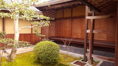 Zen garden in temple
