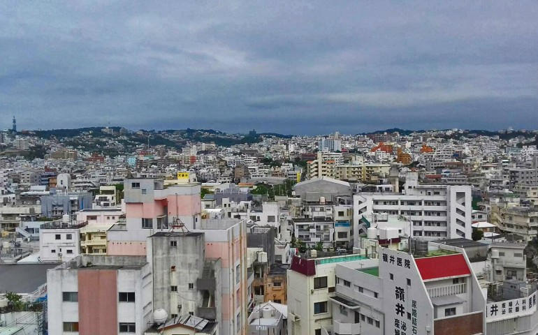 Naha city in Okinawa