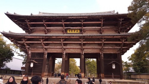Todaiji Temple in Nara is the physical embodiment of Japanese Buddhism history, main gates